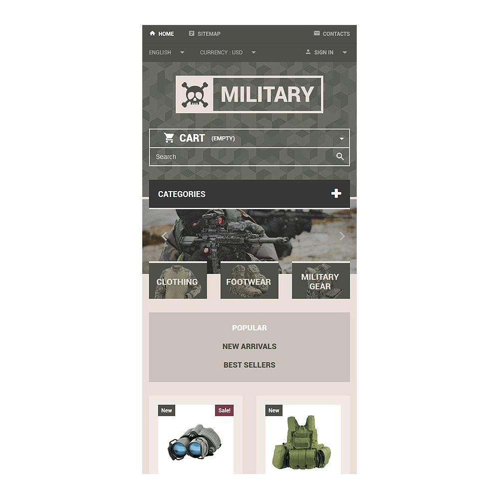 theme - Thèmes PrestaShop - Magasin d'équipement militaire - 8