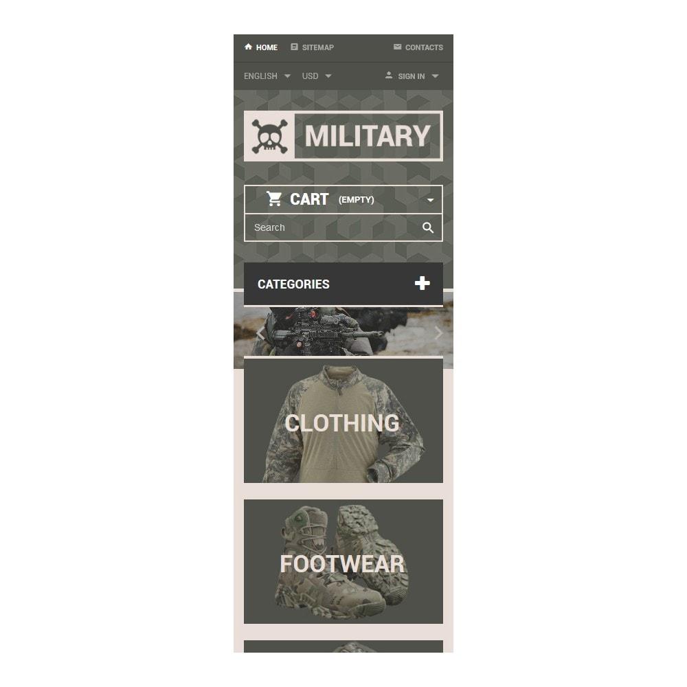 theme - PrestaShop Templates - Military Gear Store - 9
