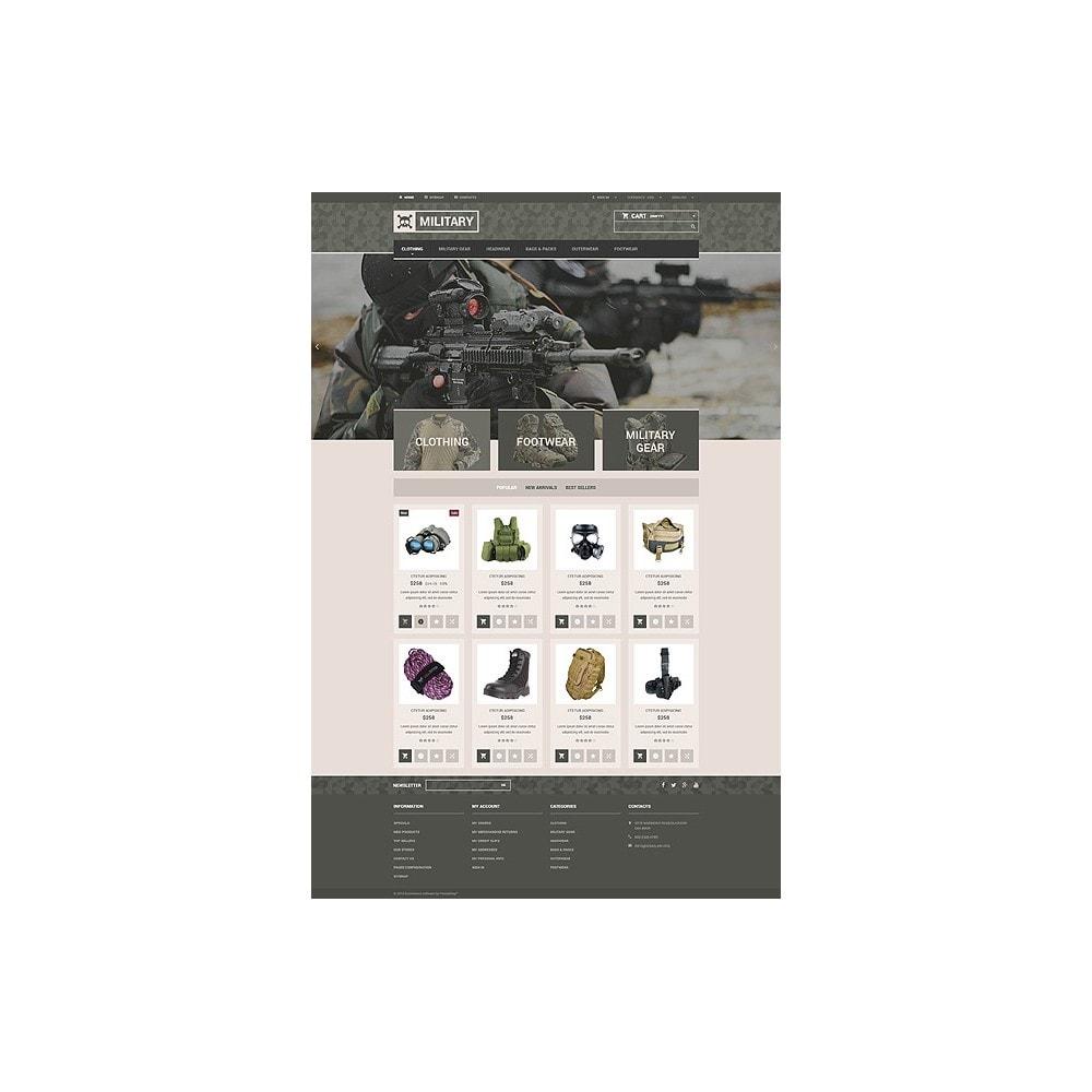 theme - PrestaShop Templates - Military Gear Store - 10