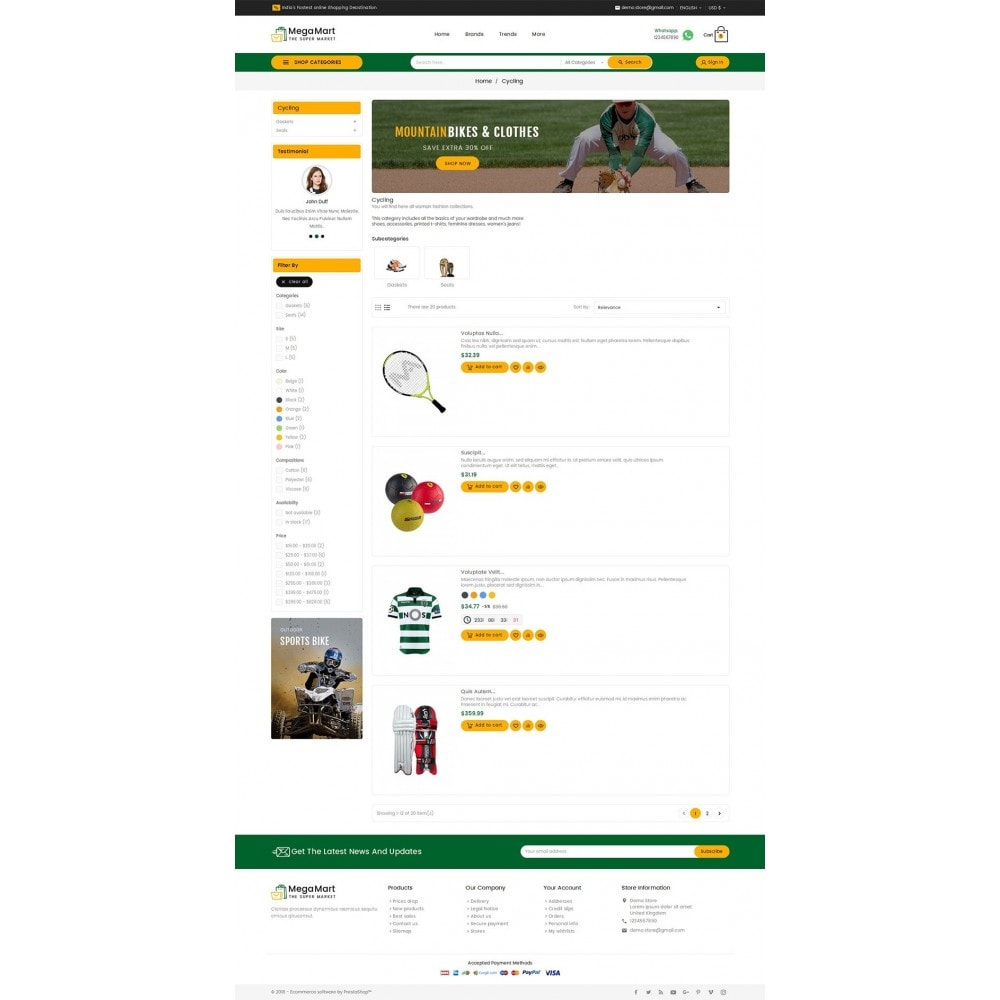 theme - Sport, Loisirs & Voyage - Mega Mart Sports Club - 5