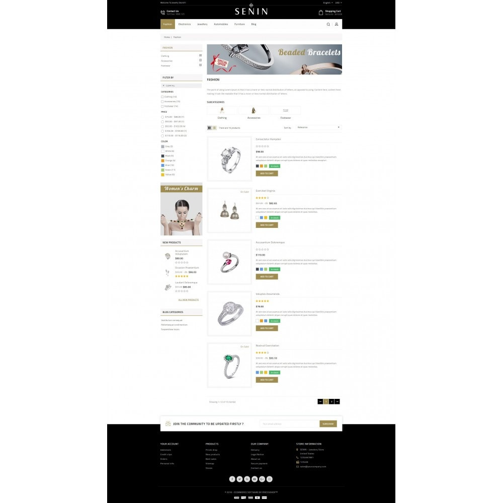 theme - Schmuck & Accesoires - SENIN - Jewelry Store - 4