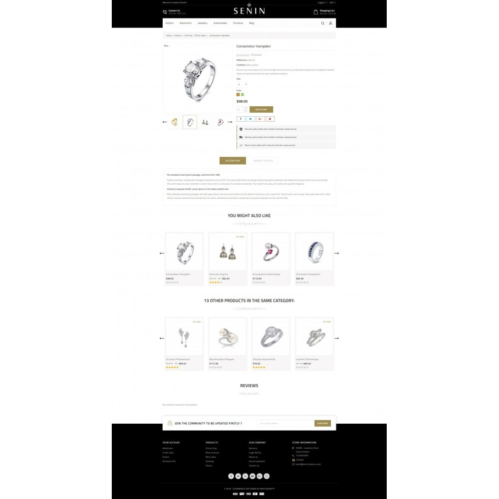 theme - Bellezza & Gioielli - SENIN - Jewelry Store - 5