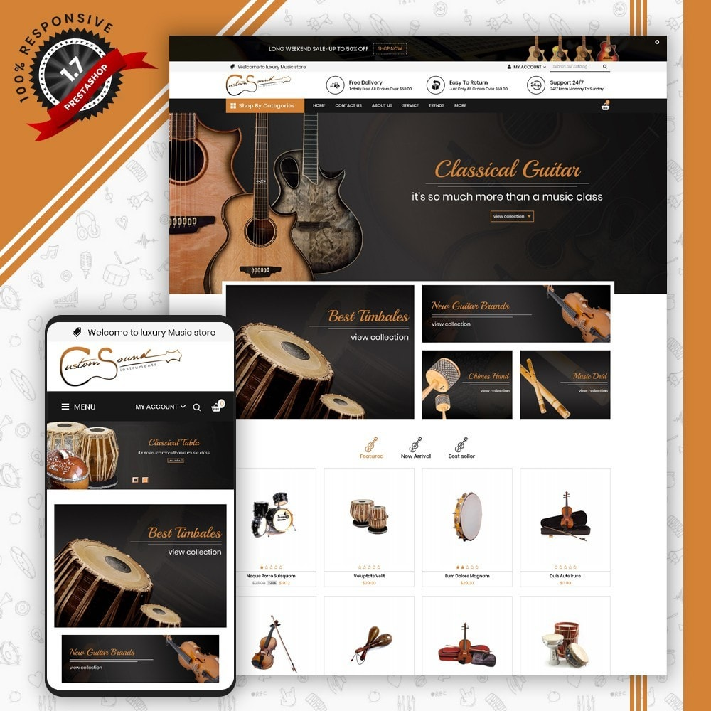 theme - Kultura & Sztuka - Instrument Shop - 1