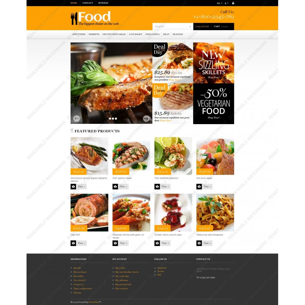 theme - Food & Restaurant - Online Orders of Meals - 3