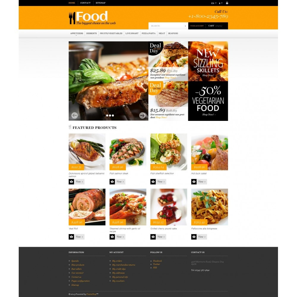 theme - Food & Restaurant - Online Orders of Meals - 4