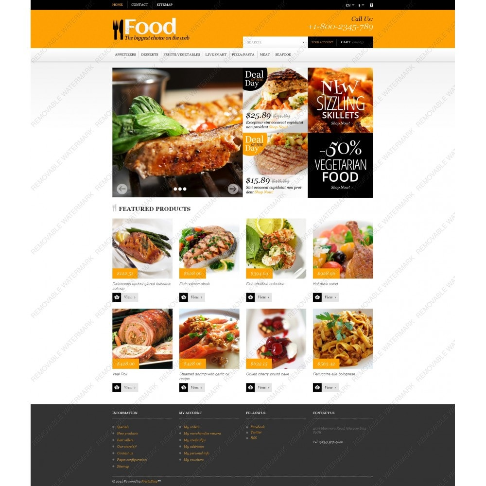 theme - Food & Restaurant - Online Orders of Meals - 5