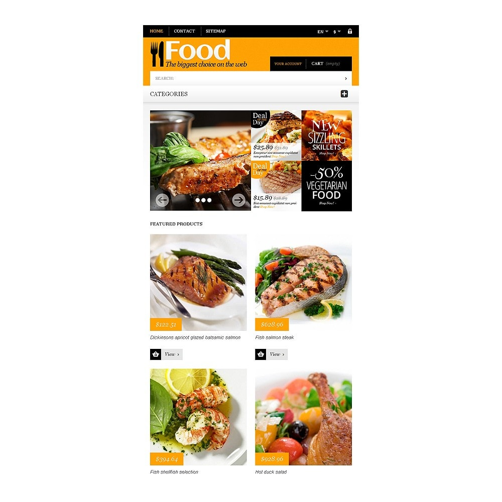 theme - Food & Restaurant - Online Orders of Meals - 7