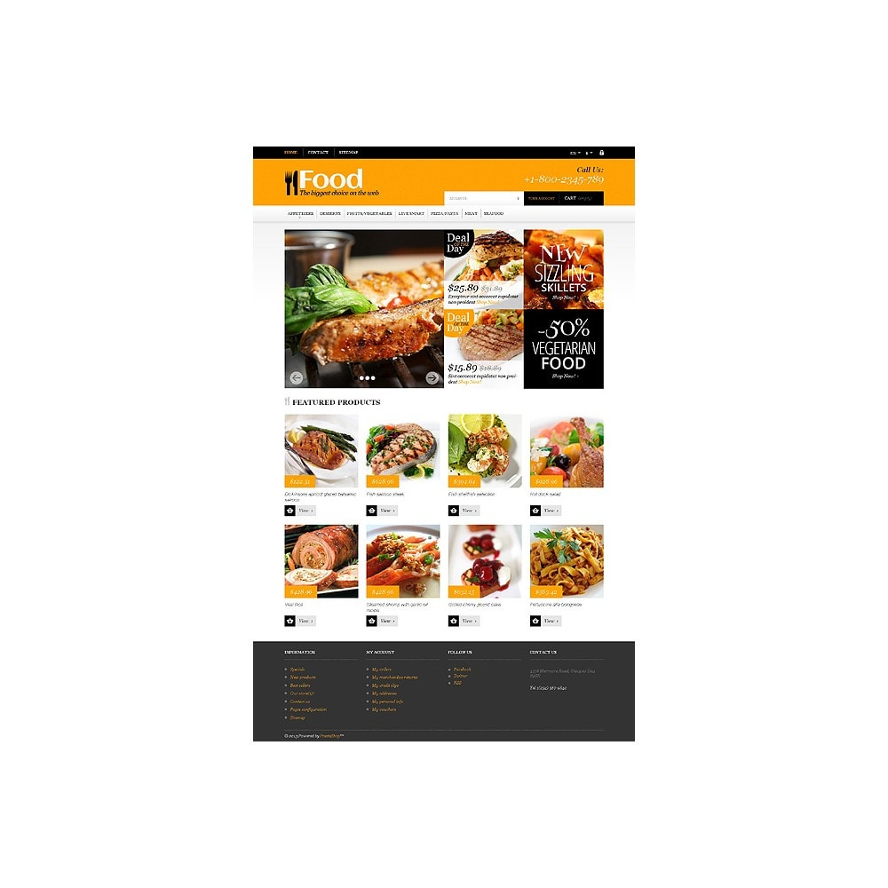 theme - Food & Restaurant - Online Orders of Meals - 10