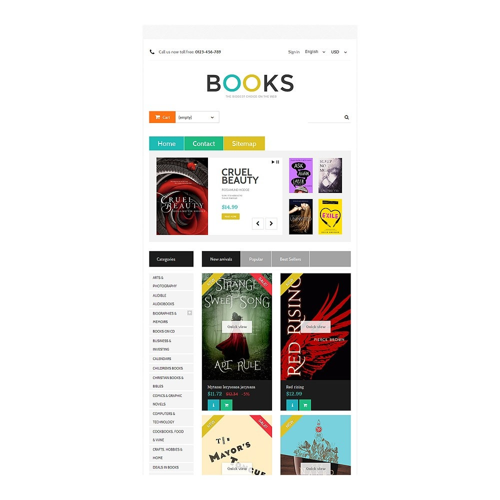 theme - Arte y Cultura - Online Bookstall - 7