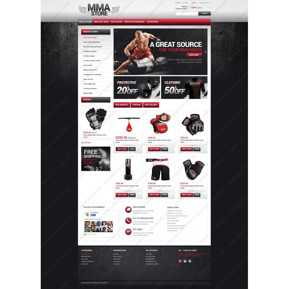 theme - Sport, Loisirs & Voyage - MMA Store - 5