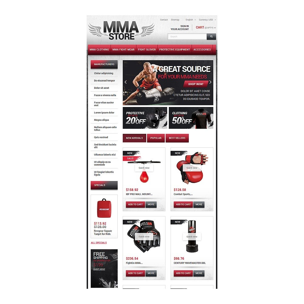 theme - Sport, Loisirs & Voyage - MMA Store - 7