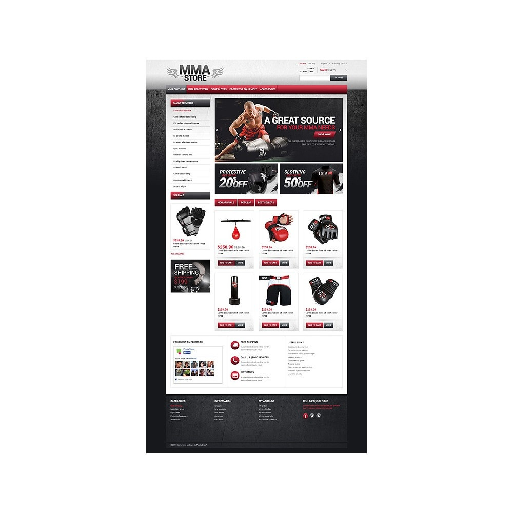 theme - Sport, Loisirs & Voyage - MMA Store - 10