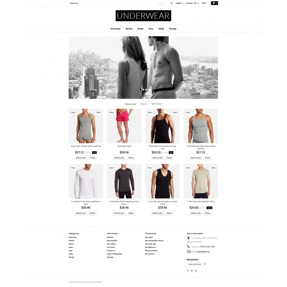 theme - Fashion & Shoes - Underwear for Men - 4