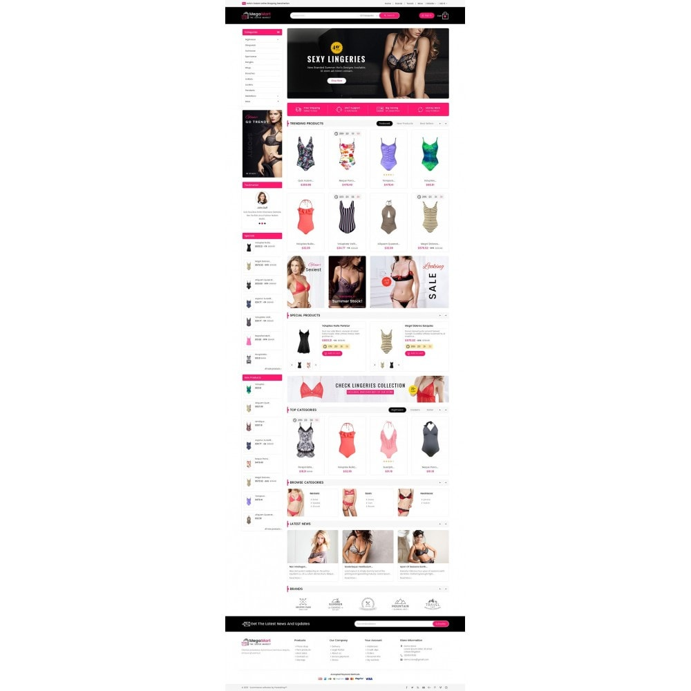 theme - Lingerie & Adulte - Mega Mart Sexy Lingerie - 3
