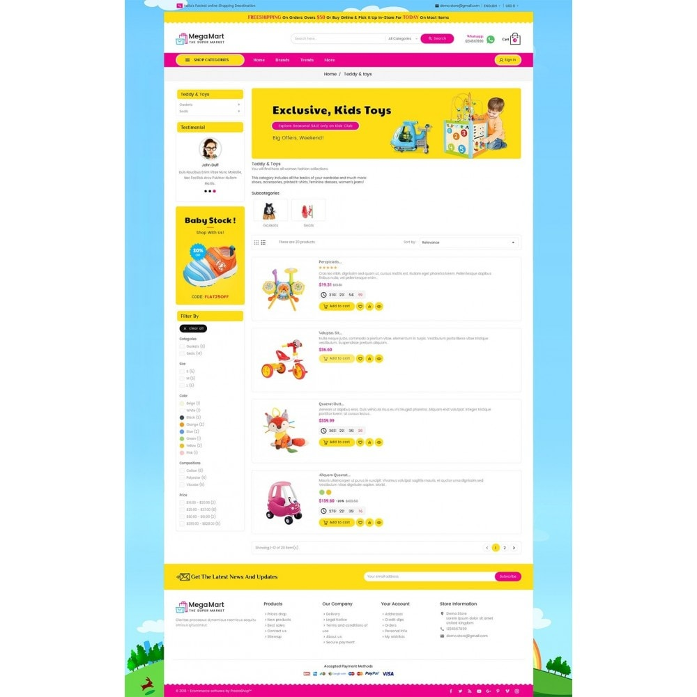 theme - Niños y Juguetes - Mega Mart Kids Toys - 5
