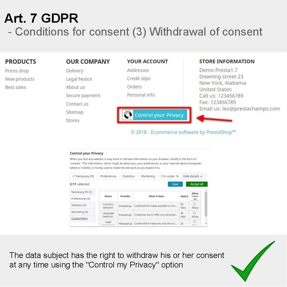 module - Rechtssicherheit - GDPR Compliance Pro - 5
