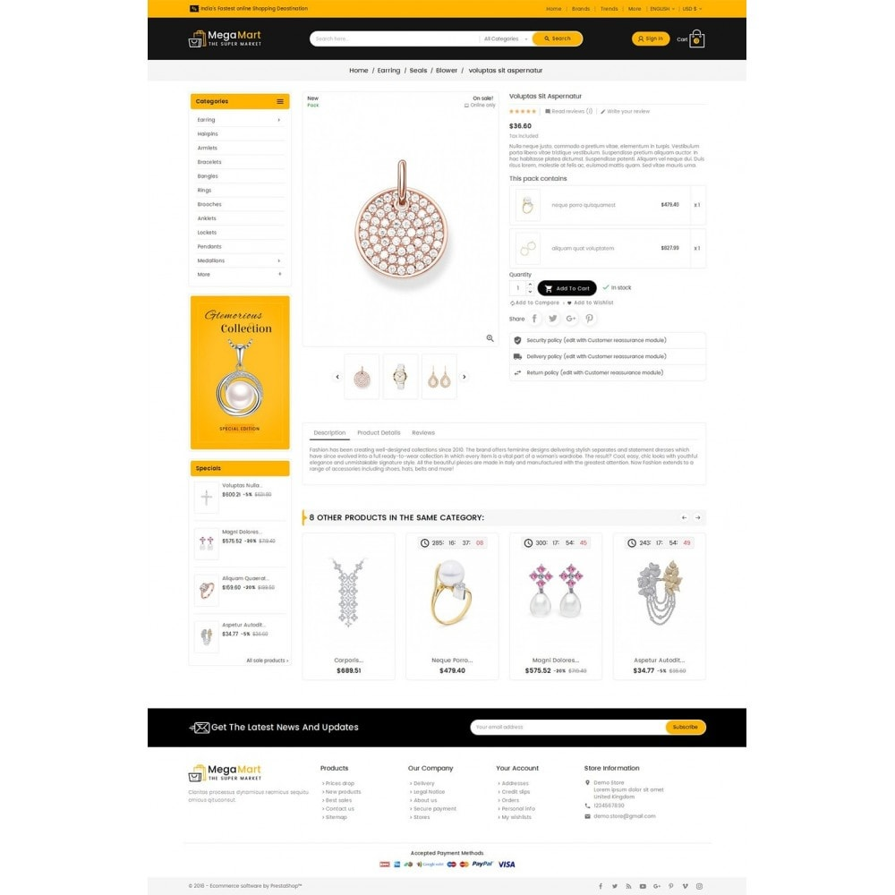 theme - Joyas y Accesorios - Mega Mart Jewelry Imitation - 6