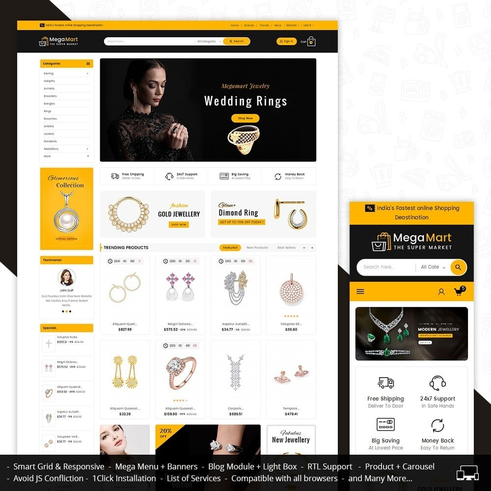 theme - Bellezza & Gioielli - Mega Mart Jewelry Imitation - 2