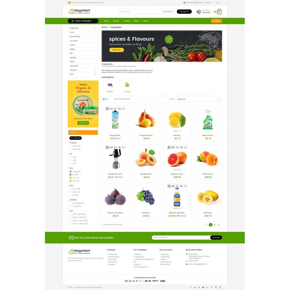 theme - Gastronomía y Restauración - Mega Mart Grocery - 4