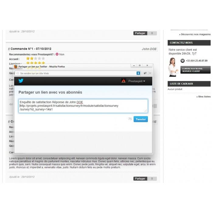 module - Formulario de contacto y Sondeos - Satisfaction Survey - 19
