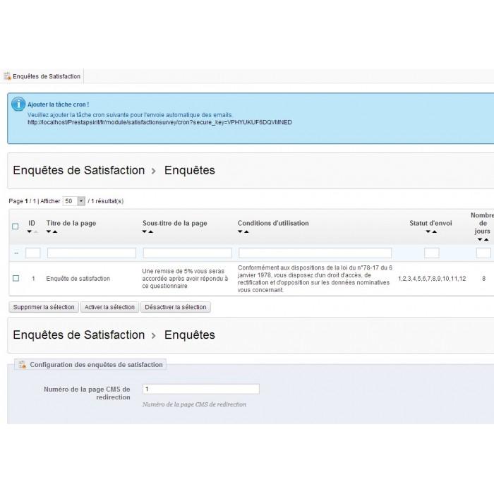 module - Formulario de contacto y Sondeos - Satisfaction Survey - 21