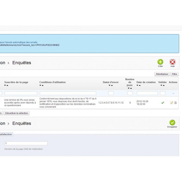 module - Formulario de contacto y Sondeos - Satisfaction Survey - 22
