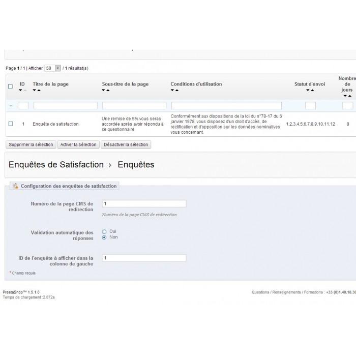 module - Formulario de contacto y Sondeos - Satisfaction Survey - 23