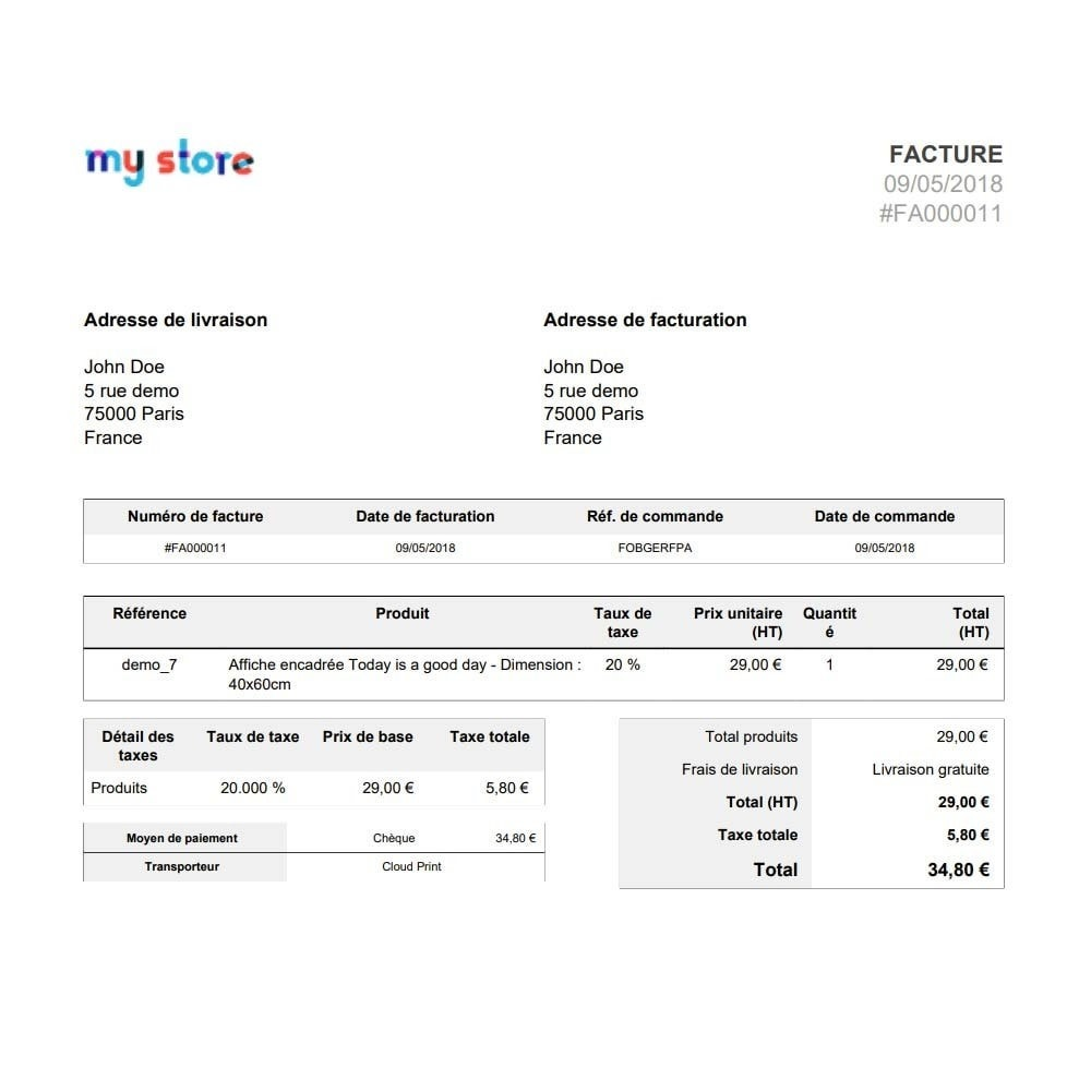 module - Preparation & Shipping - Google Cloud Print Automatic Order Printing - 3