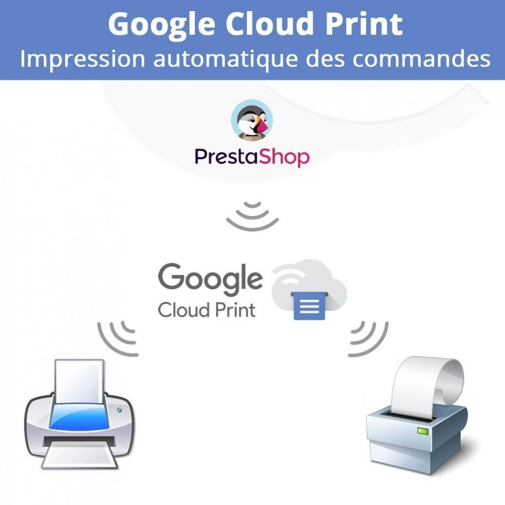 module - Préparation & Expédition - Google Cloud Print Impression automatique des commandes - 1