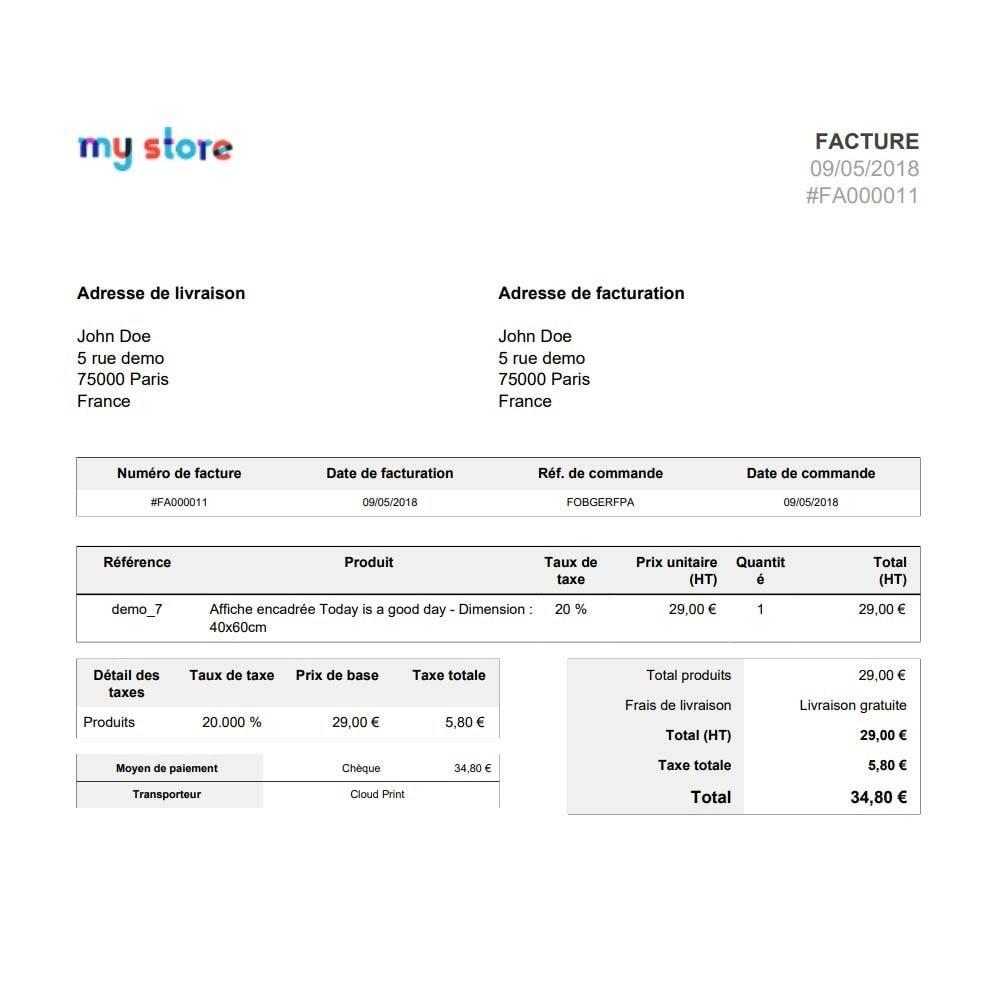 module - Préparation & Expédition - Google Cloud Print Impression automatique des commandes - 3
