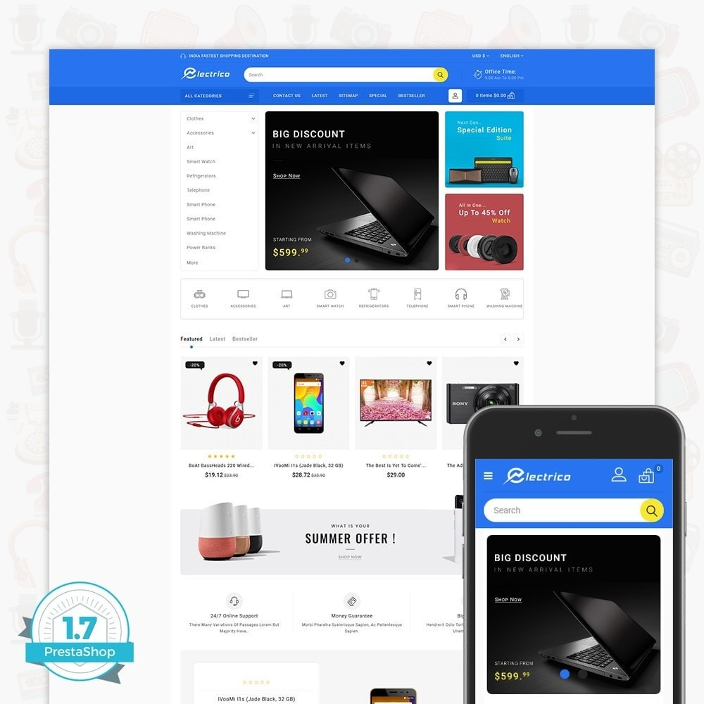 theme - Eletrônicos & High Tech - Electro - The Large Ecommerce Store - 1