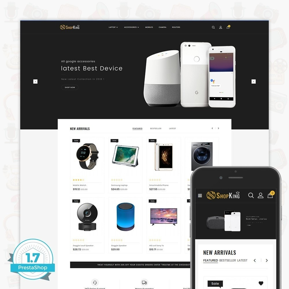 theme - Elektronika & High Tech - ShopKing - The Large Ecommerce Store - 1