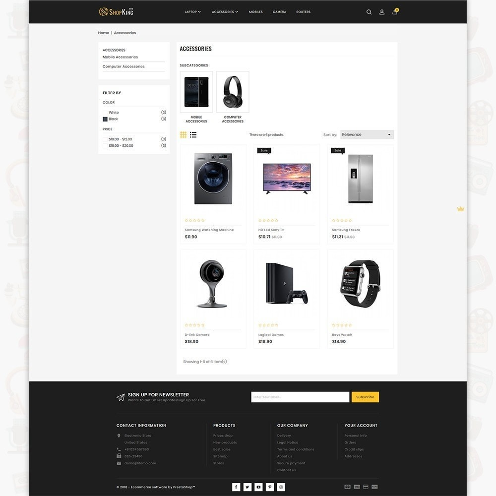 theme - Elektronika & High Tech - ShopKing - The Large Ecommerce Store - 3