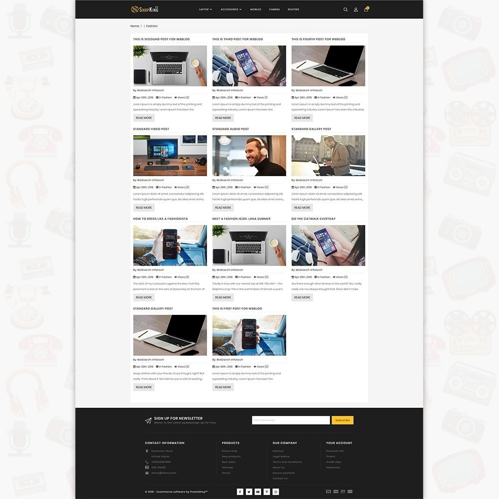 theme - Elektronika & High Tech - ShopKing - The Large Ecommerce Store - 7