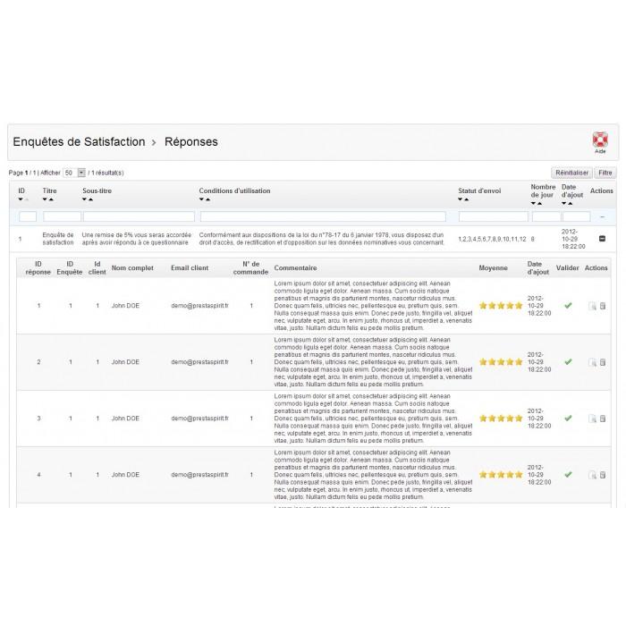 module - Formulario de contacto y Sondeos - Satisfaction Survey - 29