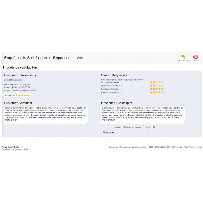 module - Formulario de contacto y Sondeos - Satisfaction Survey - 30