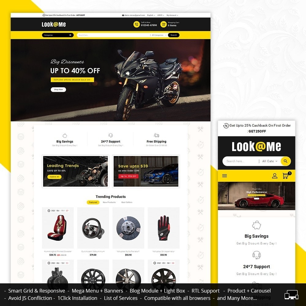 theme - Auto & Moto - Look me Auto Parts - 2