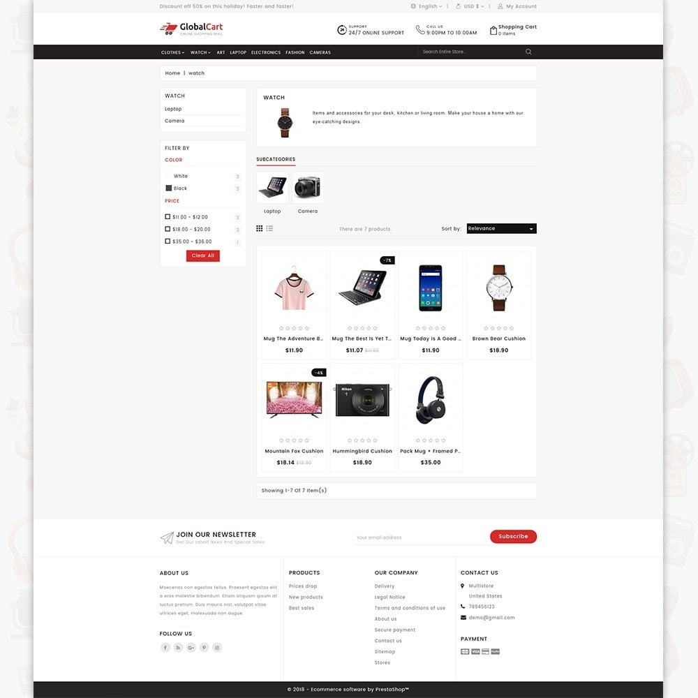 theme - Electronics & Computers - GlobalCart - Online Shopping Mall - 3