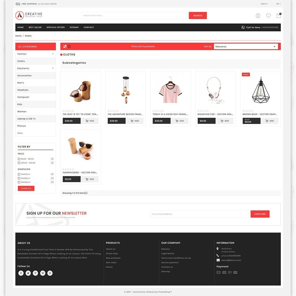 theme - Mode & Chaussures - Creative - The Modern Shop - 3