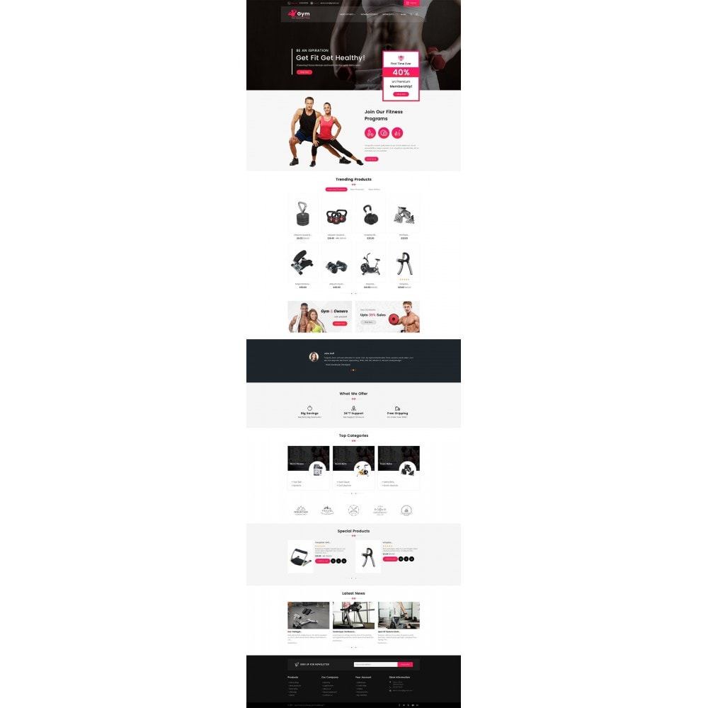 theme - Sport, Loisirs & Voyage - Gym Equipment Store - 3