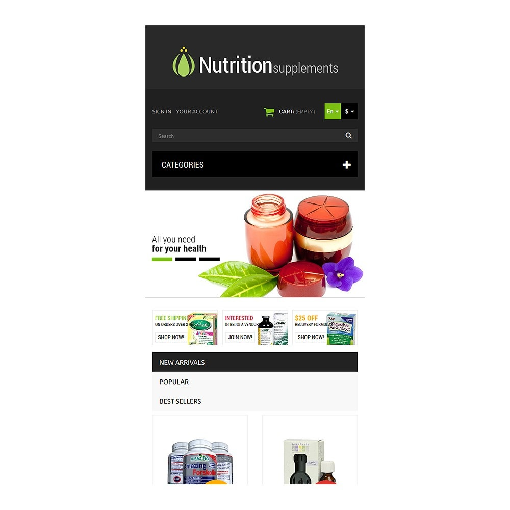 theme - Здоровье и красота - Nutrition Products - 8