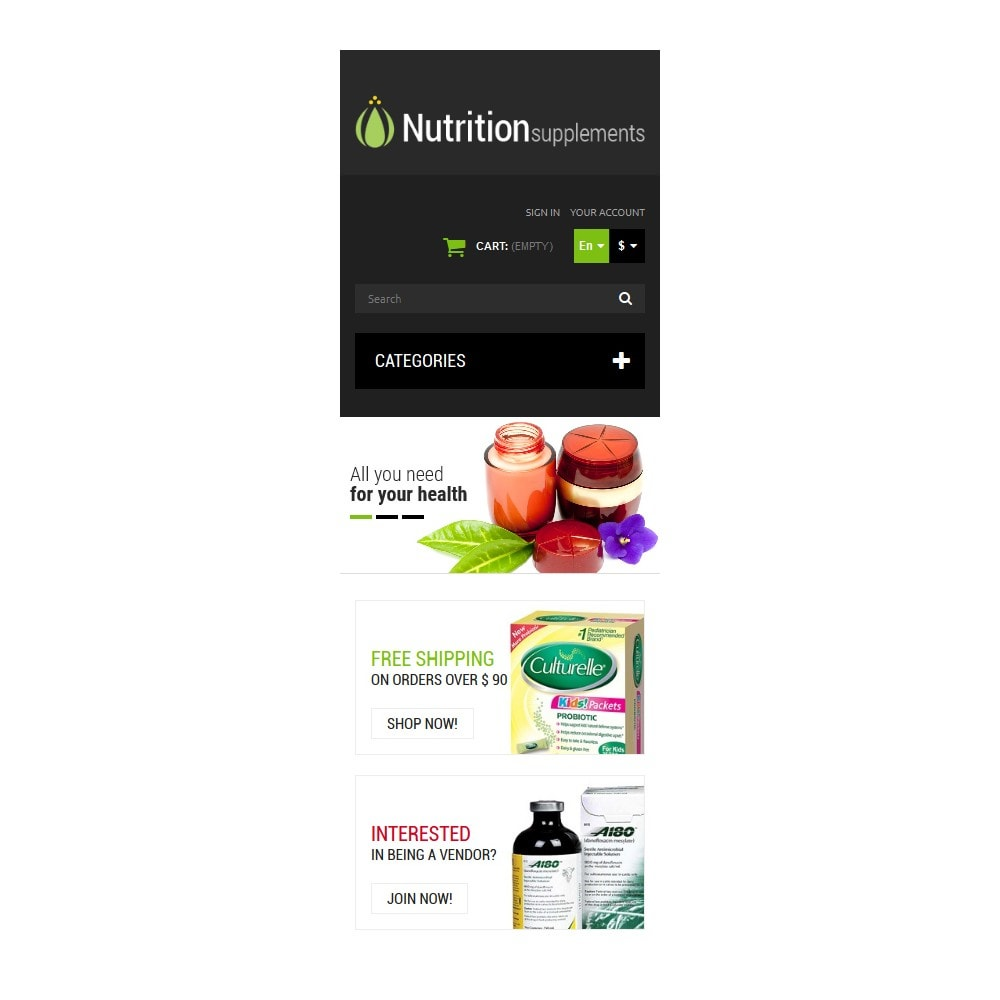 theme - Здоровье и красота - Nutrition Products - 9