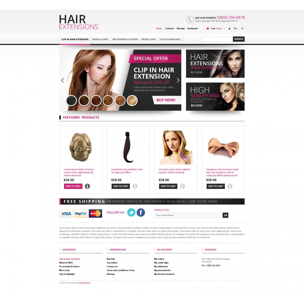 theme - Mode & Schuhe - Hair Extensions Store - 4