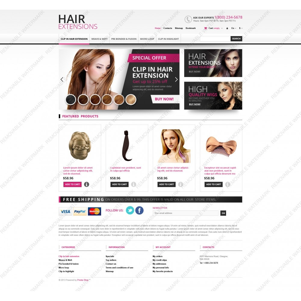 theme - Mode & Schuhe - Hair Extensions Store - 5