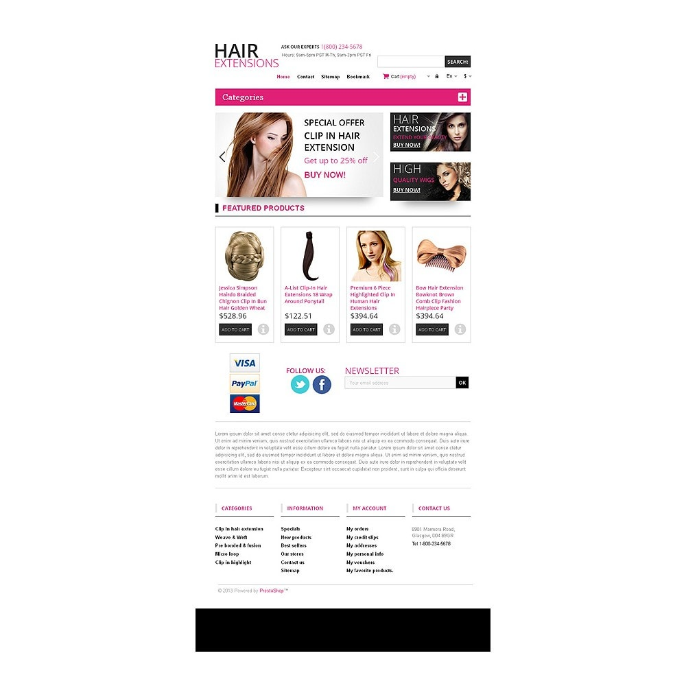 theme - Mode & Schuhe - Hair Extensions Store - 7