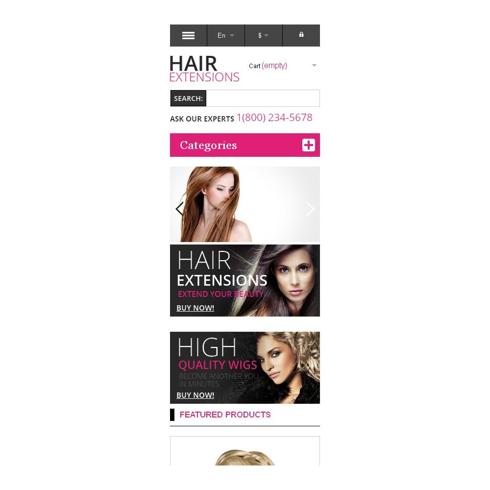 theme - Mode & Schuhe - Hair Extensions Store - 9