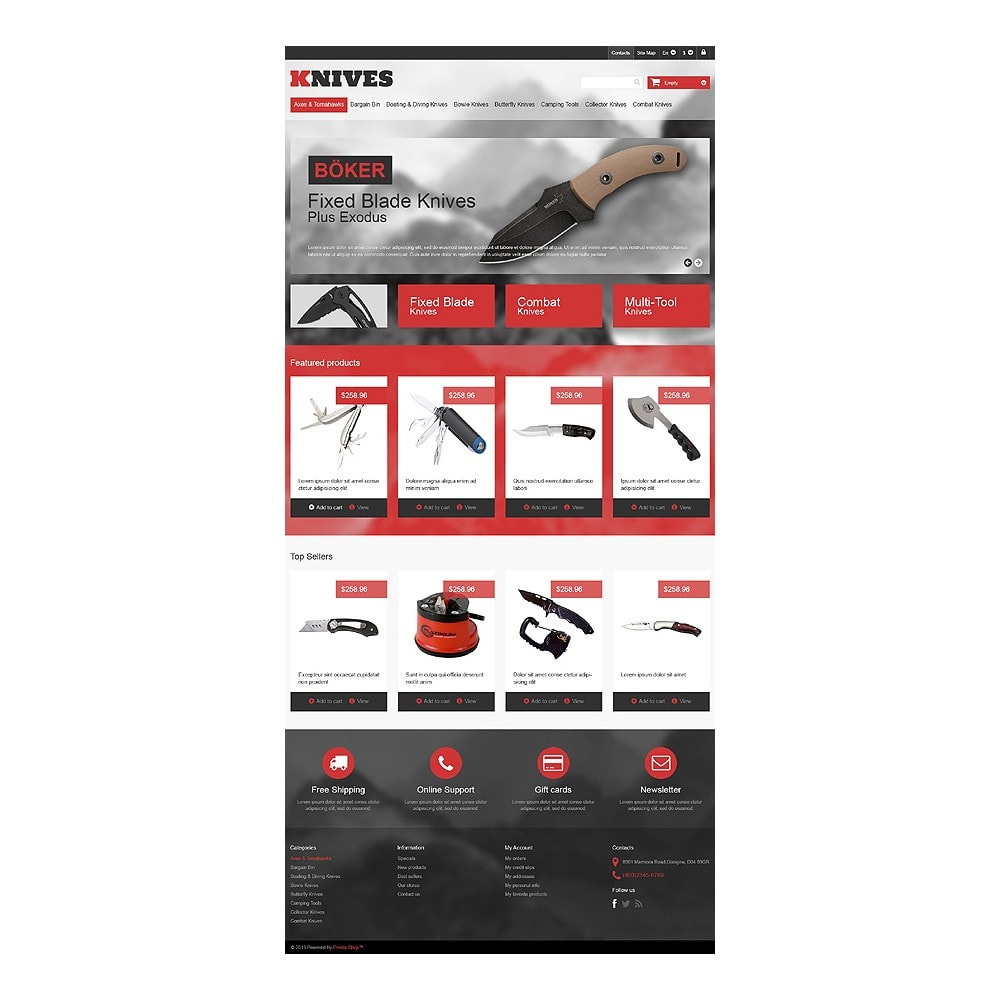 theme - Thèmes PrestaShop - Multi-Purpose Knives - 10