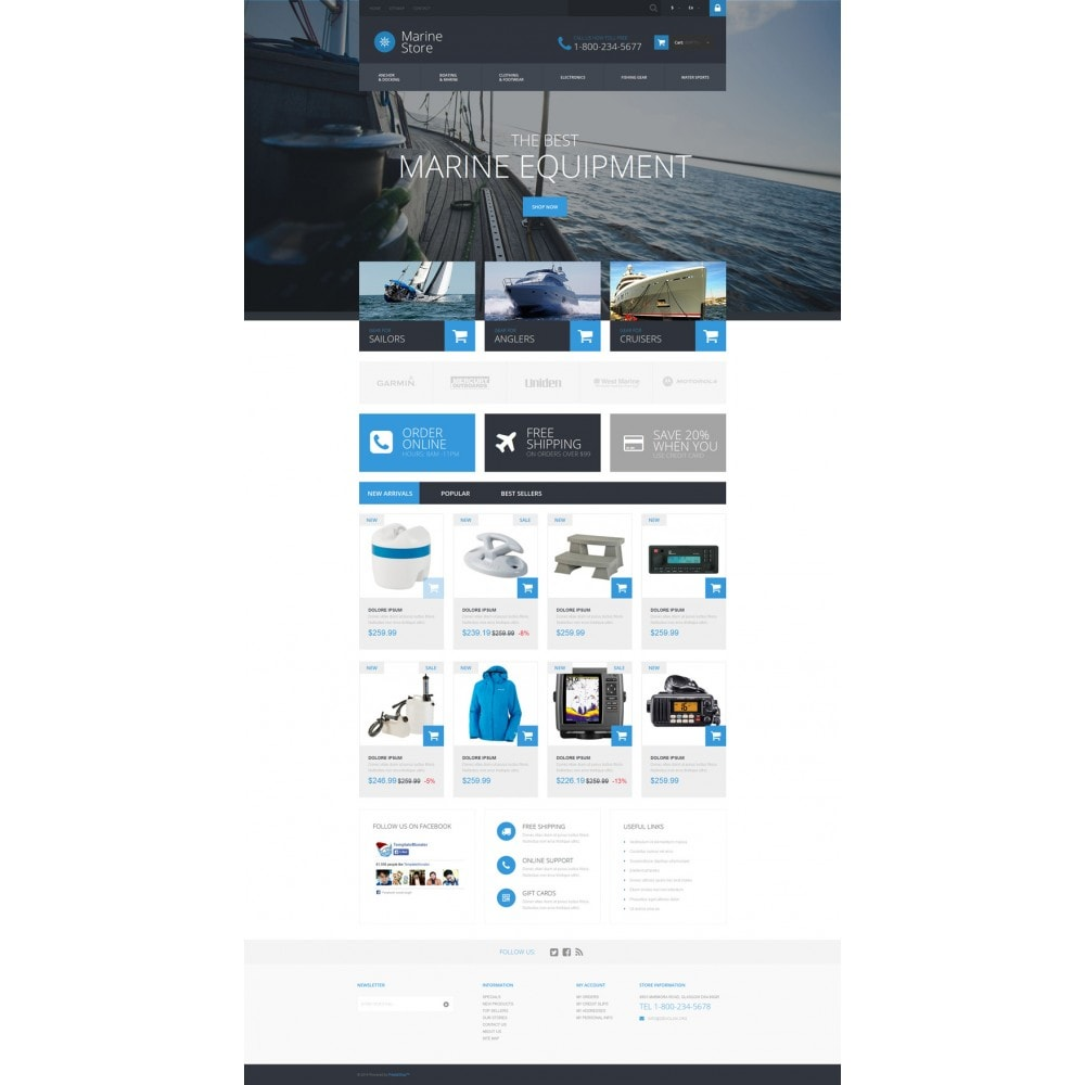 theme - Спорт и Путешествия - Marine Store - 2