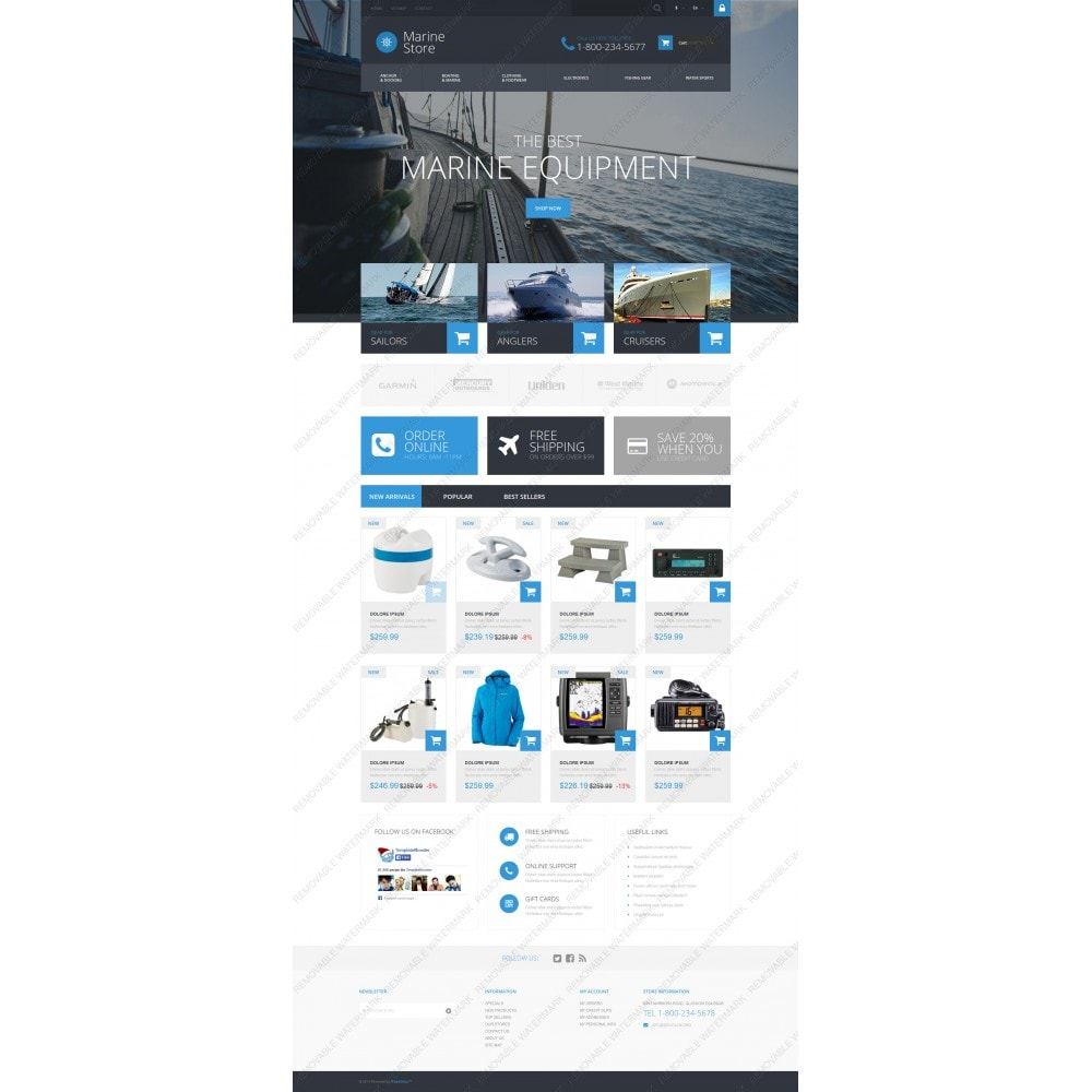 theme - Спорт и Путешествия - Marine Store - 3