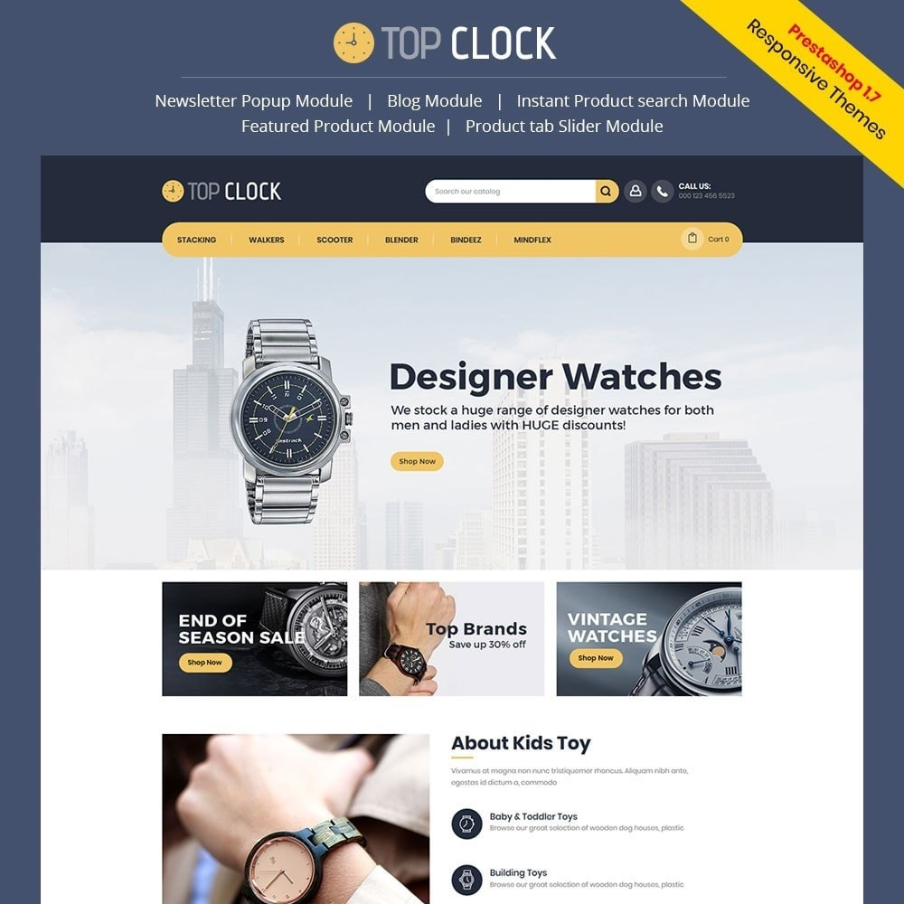 theme - Mode & Chaussures - Top Clock - Watch Store - 1